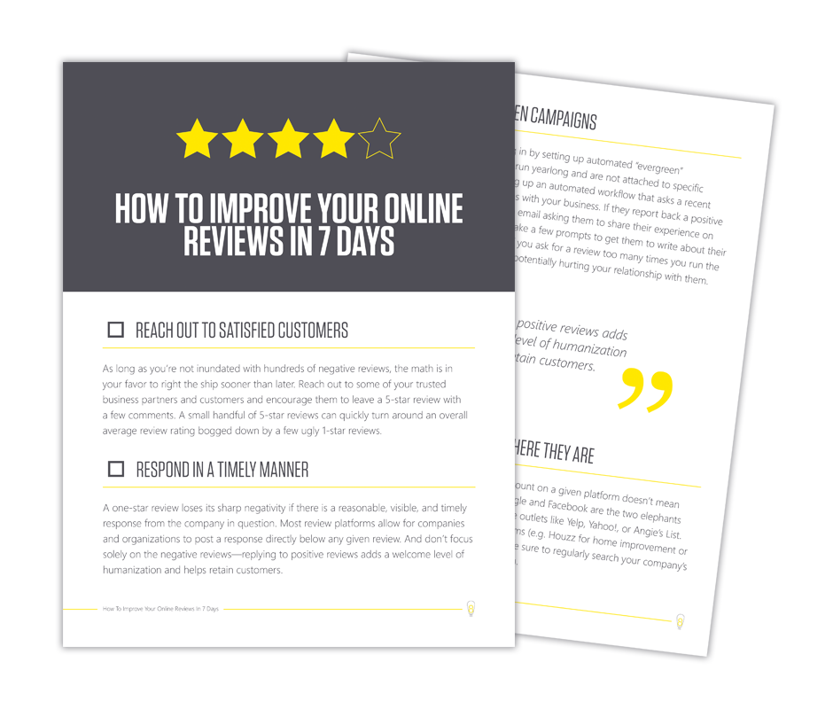 How To Improve Online Reviews
